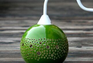 kamelo-ceramika-ball-kinkiet-green