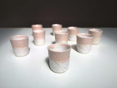 kamelo ceramika kubeczek espresso różowy