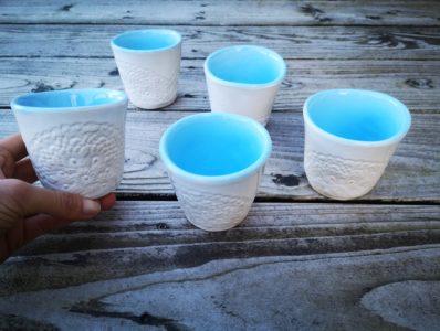 kamelo ceramika kubeczek koronka i błękit_01