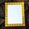 kamelo ceramika lustro w żółtej ramie_02