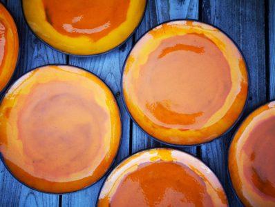 kamelo ceramika talerz słoneczna pomarańcza_05