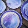 kamelo ceramika zestaw talerzy krem i fiolet_04