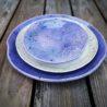 kamelo ceramika zestaw talerzy krem i fiolet_06