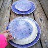 kamelo ceramika zestaw talerzy krem i fiolet_08